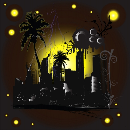 midnight town Stock Vector - 15238403