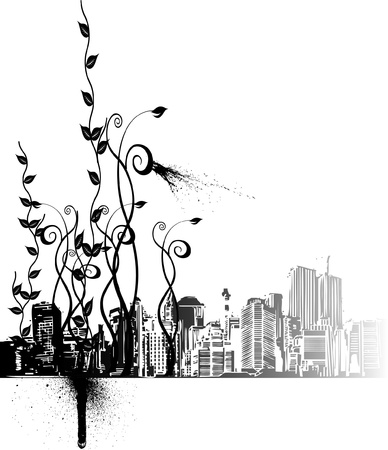 poetry of big city Stock Vector - 15225325