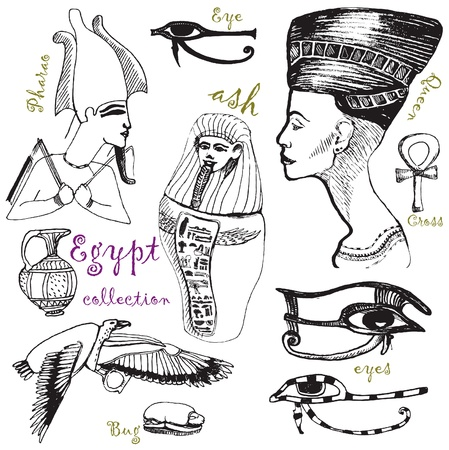 kingdom of god: from egypt - hand drawing Illustration