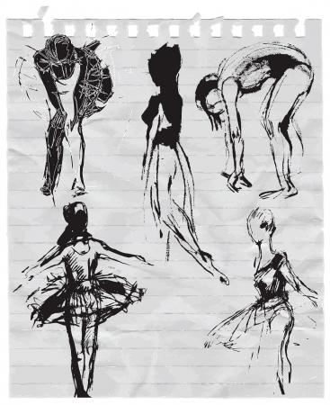showbusiness: ballet dancers Illustration
