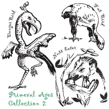 prehistoric animals: prehistoric animals Illustration