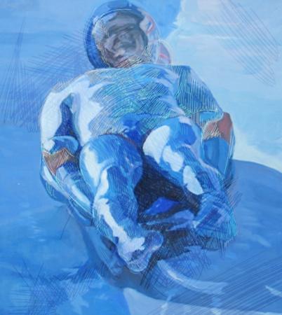 bobsleigh: racer - bobsleigh Stock Photo