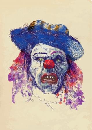 dessin à la main - visage effrayant