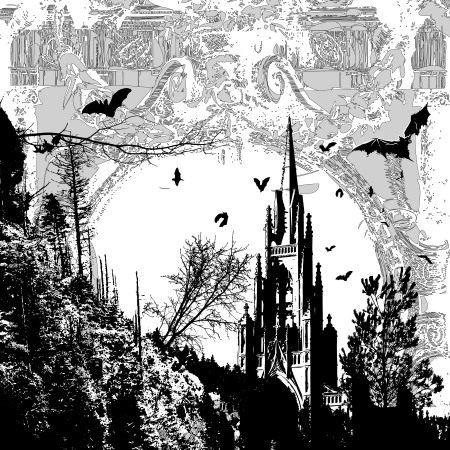 dark cathedral Vector