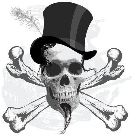 pirate funny skull Vector