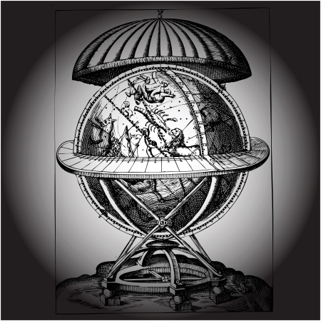 ancient globe Vector