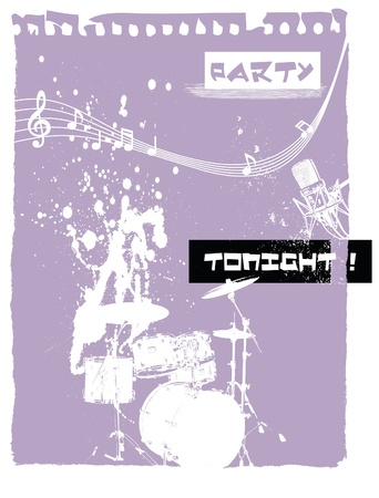 drum  the party  Stock Vector - 15719785