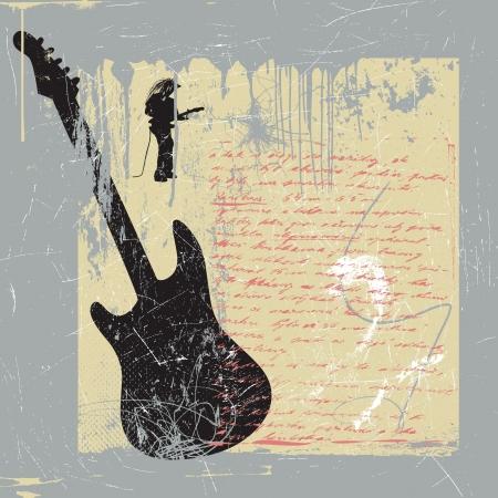 jazz club: guitare Illustration