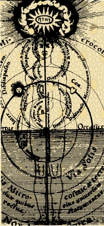astrologer: of a series of ancient astrological signs and symbols Illustration