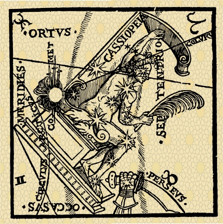 stroke of luck: of a series of ancient astrological signs and symbols Illustration