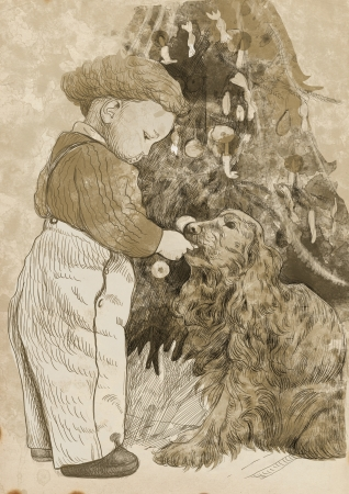christmas, yuletide  this is original drawing   photo