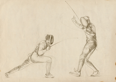 schema: fencing - hand drawing picture