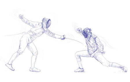 fencing - hand drawing picture