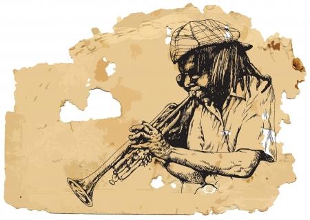masters of rock: Trumpeter  Vintage processing
