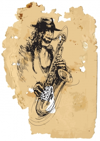sax: Sax player  Vintage processing
