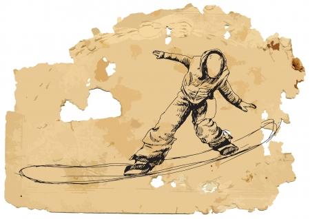 racing skates: Snowboarder  Vintage processing