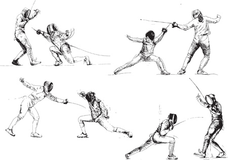 sabre: fencing - drawings collection Illustration