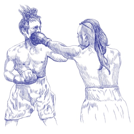 duel: boxing duel, two warriors