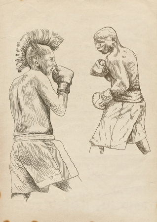 boxing duel, two warriors