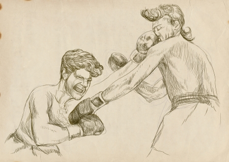 duel: boxing duel - two warriors