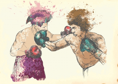 beat the competition: boxing men Illustration