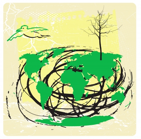 the ghost of the palnet earth - ecologic theme Stock Vector - 15973555