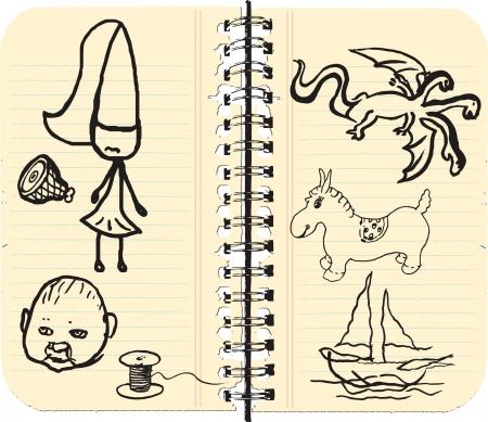 doodling: child doodling