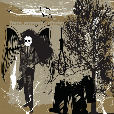 death angel: death metal - scary halloween picture with the hell angel
