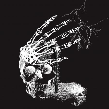 hamlet: hamlet-s still life  Dark vector Illustration
