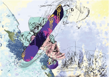 adrenalin: Winter holiday - snowboarder