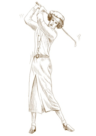 golf player  original full sized drawing  photo
