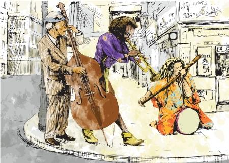 Jam Session - Bit strange band Ilustração Vetorial