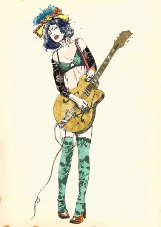 Guitar player - Exciting beauty