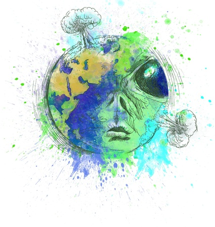 green world - Alien Planet Earth Stock Photo - 16548982