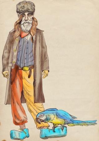 bearded man: Hallucinations of old bearded man