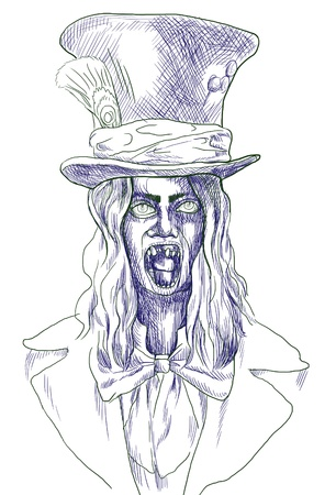 Portrait of an undead, zombie - hand drawing Stock Photo - 17165581