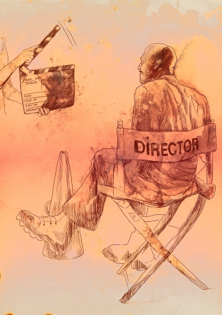 cinematic: The film environment  Director and clapperboard