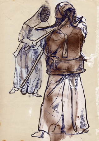 martial ways: Budo, Japanese martial art and philosophy way   Stock Photo