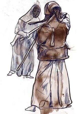 Budo, Japanese martial art Stock Photo - 17572648