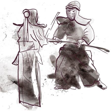 Budo, Japanese martial art Stock Photo - 17531311