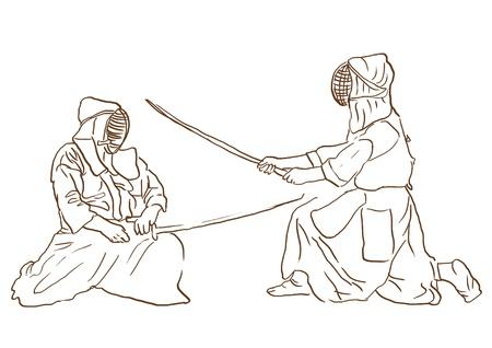 Budo, Japanese martial art  Stock Photo - 17481157
