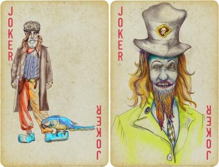 jokers, clowns - hand drawing photo