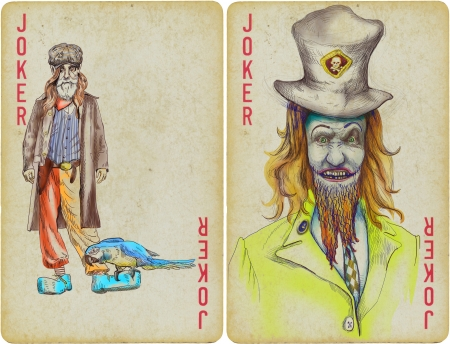 jokers, clowns - hand drawing