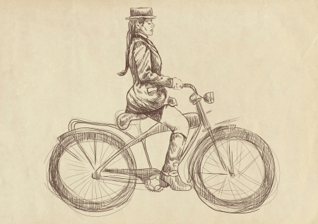 weighted: weighted lady on bike