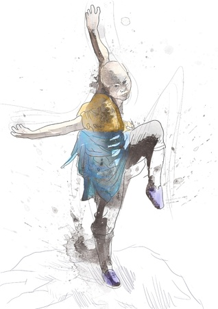 Kung Fu, Chinese martial art      A hand drawn illustration Stock Illustration - 17657565