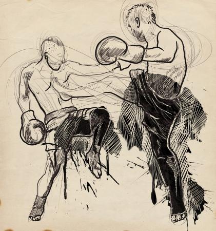 Muay Thai  combat martial art from Thailand  - Kickboxing Stock Photo - 18045307