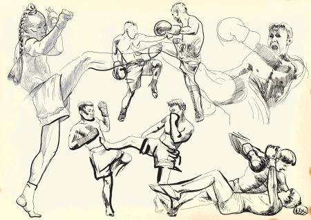 muay Krieger collection - Handzeichnungen