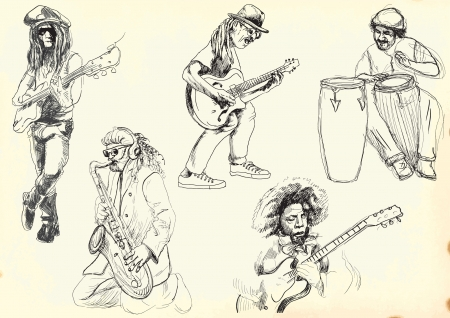 virtuoso: musicians collection - hand drawings