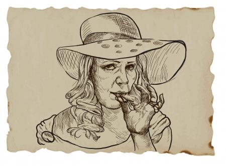 lady from the higher social strata smokes marijuana joint