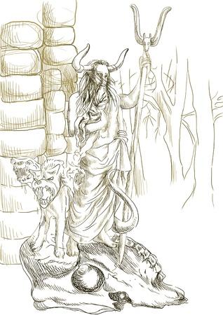 homer: Hades - An hand drawn illustration